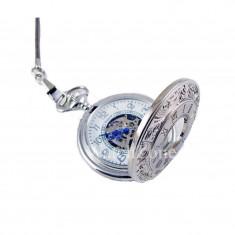 Ceas De Buzunar Mecanic Argintiu Goer