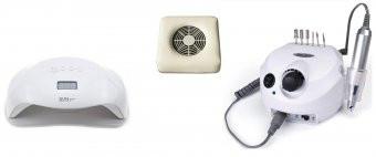 Kit Unghii,Freza Electrica, Colector Praf,Lampa led 72W