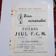 program       Jiul  Petrosani   -   FCM   Resita