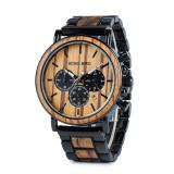 Cumpara ieftin Ceas din lemn Bobo Bird cu curea din lemn, P09-1