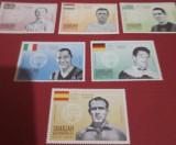 SHARJAH 1968, FOTBALIȘTI - SERIE COMPLETĂ NEȘTAMPILATĂ MNH, Nestampilat