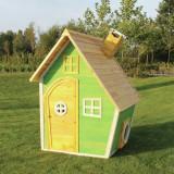 Casuta gradina pentru copii lemn EXIT Fantasia 100 Green
