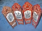 7217-Paravan decorativ mic China sculptat lemn insertie sidef. Stare foarte buna