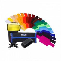 Set Filtre Gel 20 buc Flash Speedlite Geluri Canon, YN, Nikon, Godox etc.