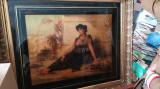 Tablou Nathaniel Sichel - Cleopatra regina egiptulu, Portrete, Ulei, Realism