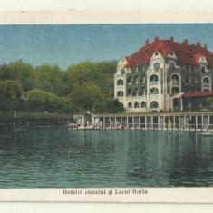cp Baile Ocna Sibiului : Hotelul Statului si Lacul Horia - circulata 1924
