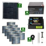 Gard electric Animale Sălbatice 6,6J putere cu Sârmă 10.000m și Panou Solar