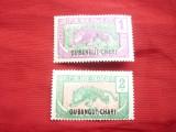 Oubangui Chari colonie francesa 1922 supratipar pe timbre Moyen Congo ,2val.sarn, Nestampilat