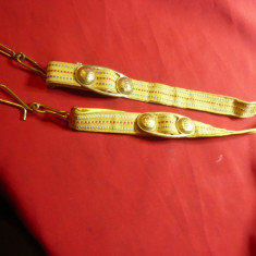 Pereche Beliere (sustin stiletul) romanesti- Pt Uniforma Militara de Ceremonie
