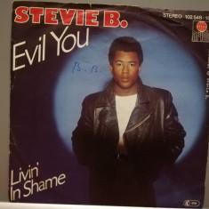 Stevie B – Evil You …(1987/Ariola/RFG) - VINIL Single/Impecabil