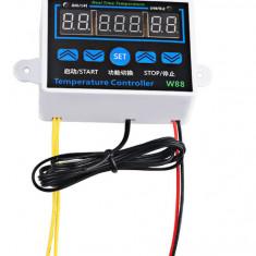 Termostat electronic digital 3 afisaje 12V  220V 10A cu carcasa
