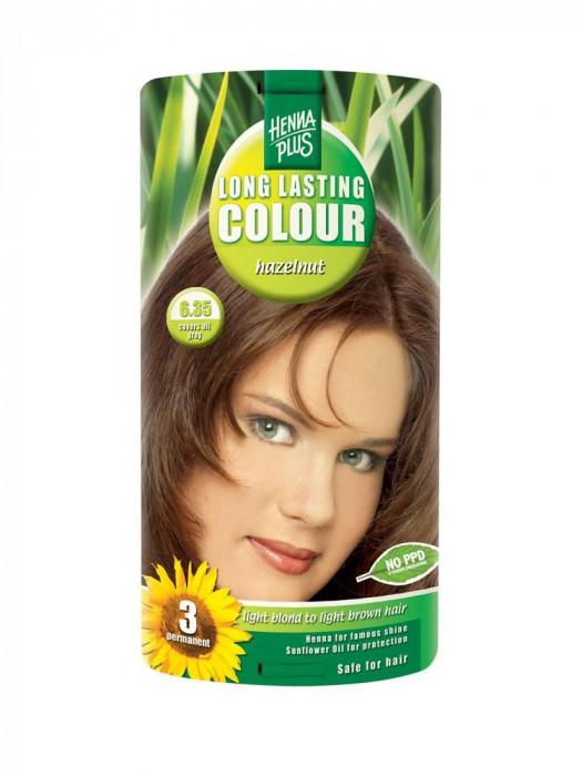 Vopsea de Par HennaPlus Long Lasting Colour Hazelnut 6.35