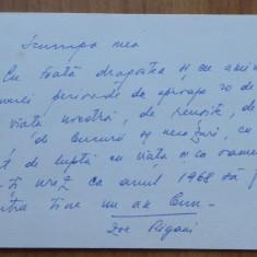 2 scrisori Zoe Rigani ( lider comunist din Ardeal ) catre Mia Groza , 1966 - 68