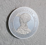 Medalie rara Mihai Viteazul - Stema - 1999 - Batalia de la Selimbar 400 ani