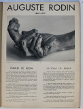 AUGUSTE RODIN 1840 - 1917, EDITIE BILINGVA FRANCEZA - ENGLEZA , INCEPUT DE SECOL XX