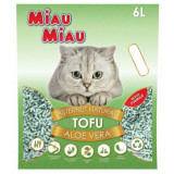 Nisip pentru pisici MIAU MIAU Tofu ALOE VERA 6L