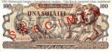 REPRODUCERE  bancnota specimen 100 Lei 5-decembrie 1947  Romania