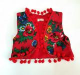 Vestuta accesorizata cu ciucurei - Red Diva (Marime Disponibila: 7-8 ani)