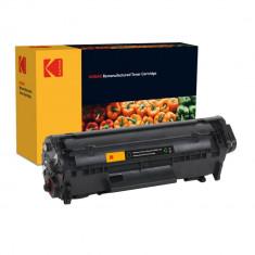 Cartus toner original Kodak compatibil Q2612A pentru HP, Black, Premium Kodak