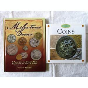 Doua carti NUMISMATICA in lb. engleza MILESTONE COINS si COINS.  Absolut noi