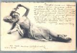 AX 489 CP VECHE-TANARA IN TINUTA DE EPOCA-1902-STAMPILA BALTCHIK(BALCIC)BULGARIA, Circulata, Printata