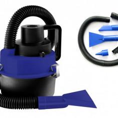 Aspirator auto portabil, umed/uscat cu functie umflare saltele gonflabile, 150W, 12V +Accesorii