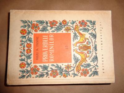 Proverbele romanilor vol.12/an1959/629pagini- Iuliu Zanne foto
