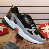 Pantofi sport Binali gri cu verde -rl