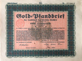 1000 Goldmark Titlu de stat Germania 1926