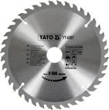 Disc fierastrau wolfram pentru lemn 210 mm x 40T YATO