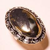 inel argint overlay marime 8 apache gold calcopirita