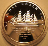 A.725 GERMANIA 50 JAHRE GORCH FOCK 10 EURO 2008 J PROOF ARGINT .925/18g
