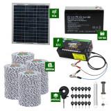 Pachet gard electric cu Panou solar 3,1J putere cu 4000m Fir 120Kg