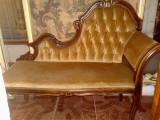 bancheta/canapea hol/terasa/dormitor, baroc,rococo, vintage/antic, lemn