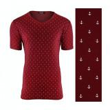 Tricou pentru barbati rosu regular fit casual sailor