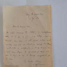 AUTOGRAF EMIL ISAC: către poetul Valeriu Bora (1926)