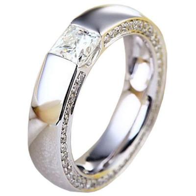 Inel Borealy Aur Alb 14K Eternity Band Moissanite Diamond foto