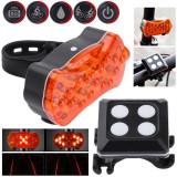 Semnalizare bicicleta wireless cu laser incorporat (incarcare usb)