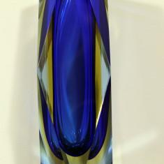 Vaza Murano Seguso Somerso  albastru de cobalt circa 1950