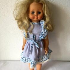 Papusa Aradeanca, 45cm, ochi mobili albastri, par blond, anii '80