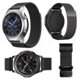 Cumpara ieftin Curea metalica compatibila cu Samsung Gear S3, magnetica, negru