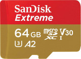 Card de memorie Sandisk Extreme 64GB MicroSDXC Clasa 10 UHS-I U3