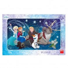 Puzzle Frozen Snowflakes Dino Toys, 15 piese, 3 ani+