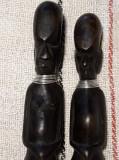 ARTA AFRICANA - SCULPTURA IN LEMN  - DECOR ANTROPOMORF - ARME RITUALE TRIBALE