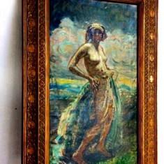 Tablou Nud impresionist Mark Lajos (1867-1945)