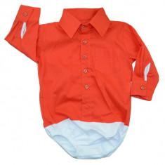 Camasa tip body pentru baietei-Mini Bimbi MNBEB01-R, Rosu