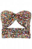 Cumpara ieftin Top dama The attico multicolor sequins top 192WCT09 H012 21 Multicolor, 40