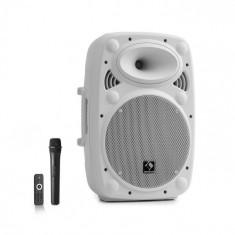 "Auna Streetstar 10, sistem mobil PA, 10"" (25.5 cm), UHF microfon, 400 W max., alb"
