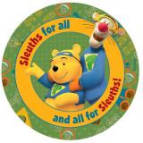 Covor copii rotund Pooh si Tiger model 605 140x140 cm Disney