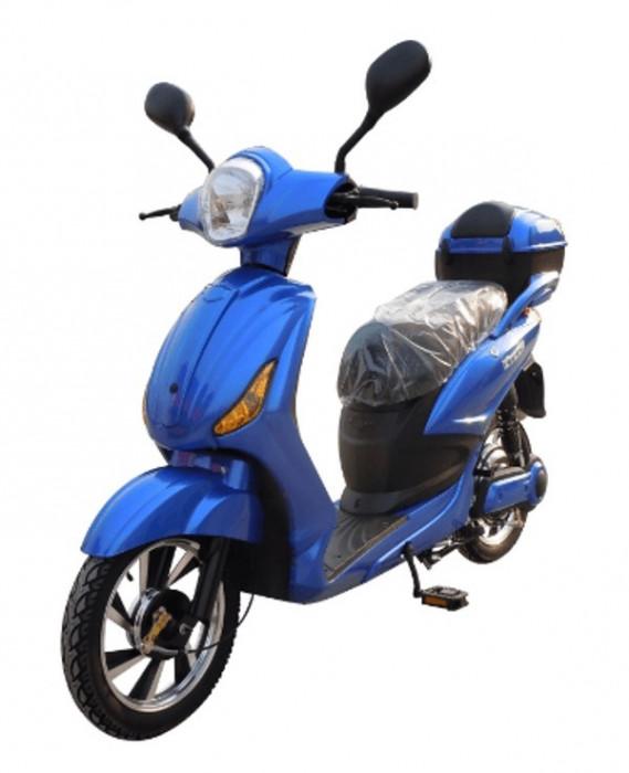 Bicicleta electrica, tip scuter, fara carnet si inmatriculare ZT-09-C CLASSIC ALBASTRU